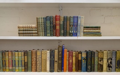 Blackie and Son Ltd, a quantity of books with decorative covers, some in the 'Glasgow school' style and by Talwin Morris, Late 19th and early 20th Century, Cloth biddings (except one in leather) and comprising:- twenty-two books with covers...