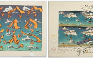 Bruce Bacon, Two Lithographs