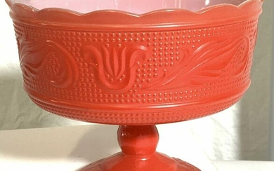 EO BRODY Collectible Mid Century Glass Tazza