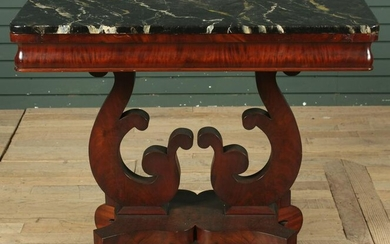 English Empire Style Faux Marble Console Table