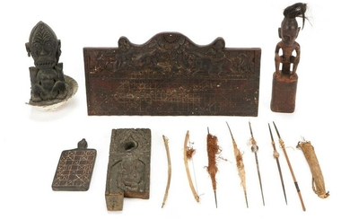 Group of Dayak and Indonesian Artifacts
