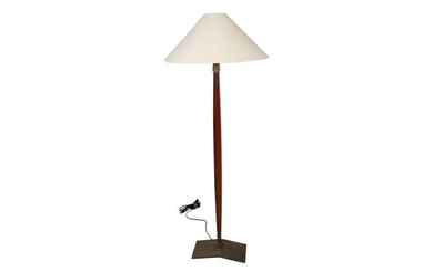 Iron and Wood Floor lamp