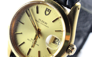 MEN's Tudor prince oysterdate automet steel with leather strap.