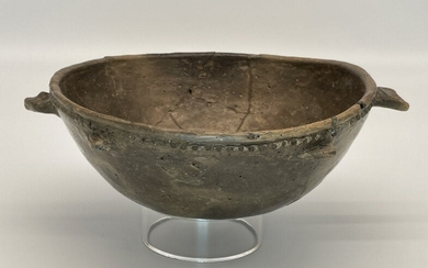 Native American Mississippian Fish Effigy Pottery Bowl