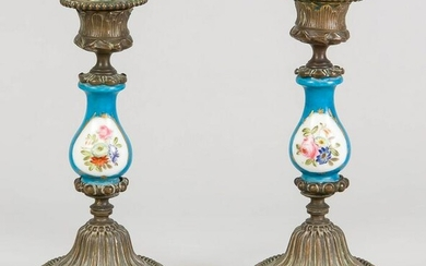 Pair of candlesticks, 19th c. Round