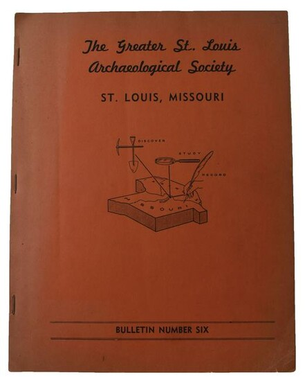 Rare 1951 The Greater St. Louis Archaeological Society