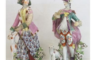 Two 18th century Derby porcelain figures, one of a gentleman...