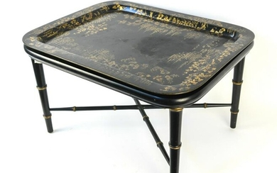 VINTAGE CHINOISERIE TRAY-TOP COCKTAIL TABLE