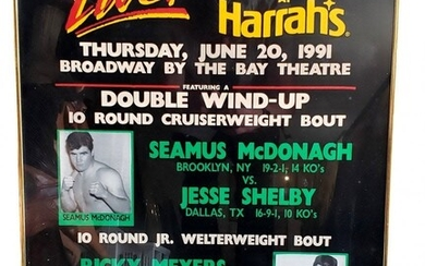 1991 Boxing at Harrahs Double Wind-Up Poster