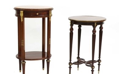 A French mahogany occasional table