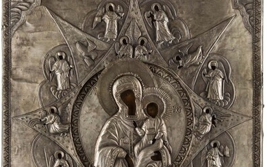 A MONUMENTAL ICON SHOWING THE MOTHER OF GOD 'OF...