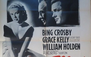 A Provincial Girl (1954) By George Seaton with Bing Crosby, Grace Kelly, William Holden Poster 0,60 x 0,80 m Illustrated by Claude Venin Paremount Films