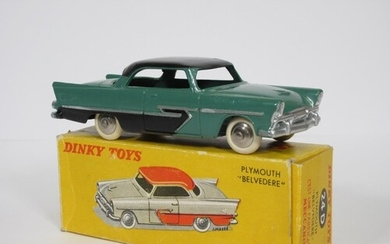 A boxed French Dinky Toys No.24D green and black Plymouth Be...