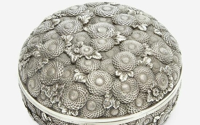 A finely-executed Japanese silver incense box