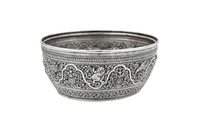 A late 19th century Siamese (Thai) unmarked silver