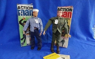 Action Man; A boxed 1960's Action Sailor figure, with auburn...
