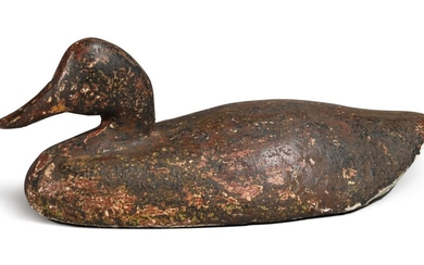 American Cast Iron Canvasback Duck Sink Weight, late 19th Century