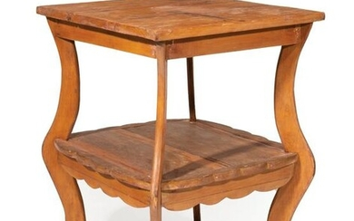 Antique Louisiana Cypress Side Table