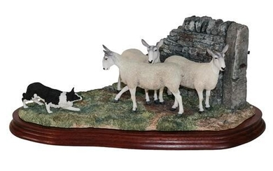 * Border Fine Arts 'Stand Off' (Border Collie and Sheep),...