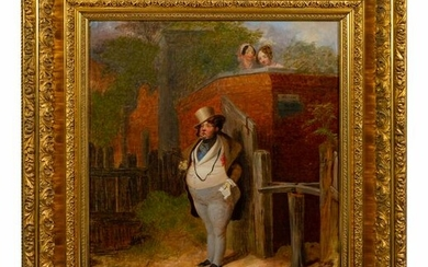 British School (19th Century) A Man in a Top Hat with