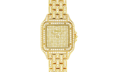 CARTIER, PANTHERE, GOLD WITH DIAMOND-SET
