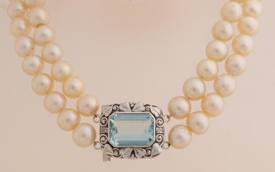 Capital pearl necklace