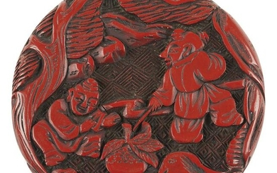 Chinese Cinnabar Lacquer Carved Box