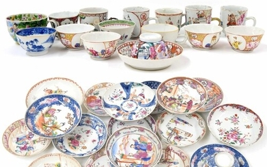 Collection of Chinese export porcelain, to include mainly sa...