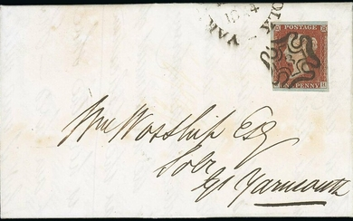 Great Britain 1841-53 One Penny Red-Brown Cancellations - Numbers in Maltese Cross Plate 20, LB...