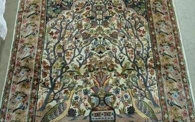 Hand Knotted Persian Lilihan Rug 4.1x6.2 ft
