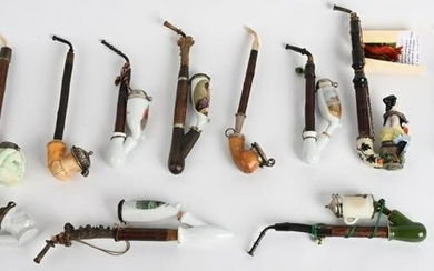 IMPERIAL GERMAN SMALL PIPE LOT OF 14 PIPES