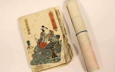 Japanese Erotic Book and Scroll Painting