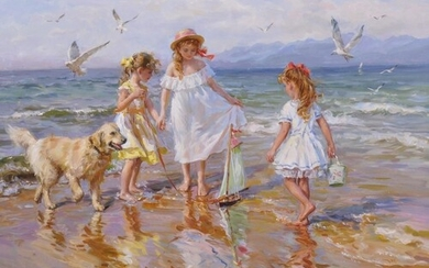 "Konstantin Razumov (1974- ) Russian. ""On the Beach by the..."