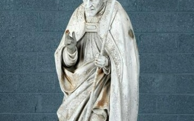 LARGE CAST IRON FIGURE DEPICTING MAN OF THE CLOTH