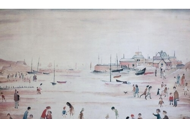 § Laurence Stephen Lowry (1887-1976) 'On The Sands' limited ...