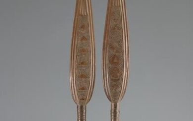 Pair of dance paddles - early 20th century - DRC