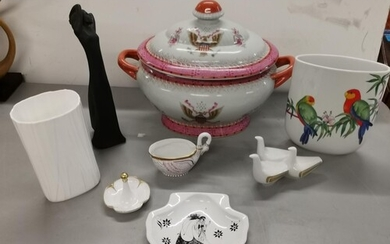 Porcelain to include a Poole dish from the Beardsley collect...