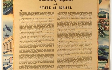 Poster with Israel Declaration of Independence - 1949