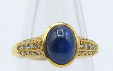 Ring in 18 ct yellow gold set with 24 brilliants...