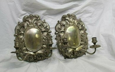 Silvered Sconces, Early American style . for candles