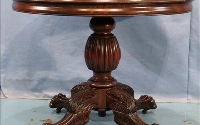 Solid mahogany round center parlor table