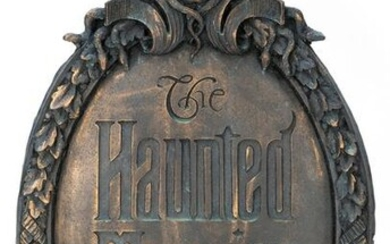 The Haunted Mansion Gate Plaque. Taken from original