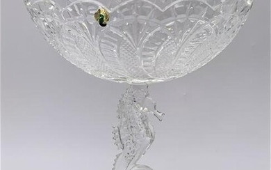 Waterford Crystal Seahorse Compote