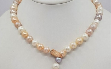 10x11mm Multi Cultured Freshwater pearls - Necklace