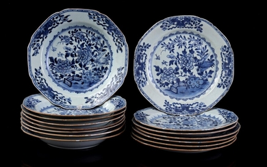 (-), 7 Chinese porcelain dishes with a decor...