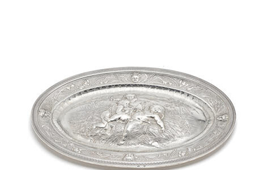 A 19th century French silver platter