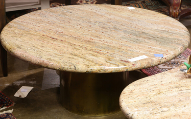 A Moderne Marble top low table