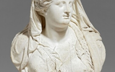 A Roman marble bust of Juno