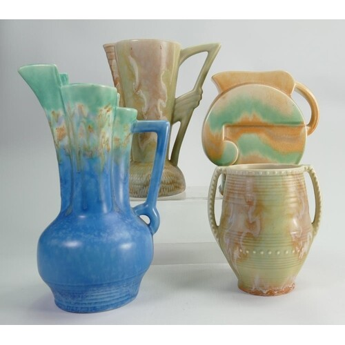 A collection of Beswick Ware Art Deco style jugs: (4)
