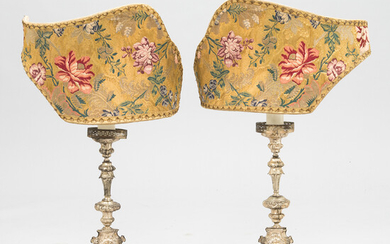 A pair of Italian table lamps from late 20th century.